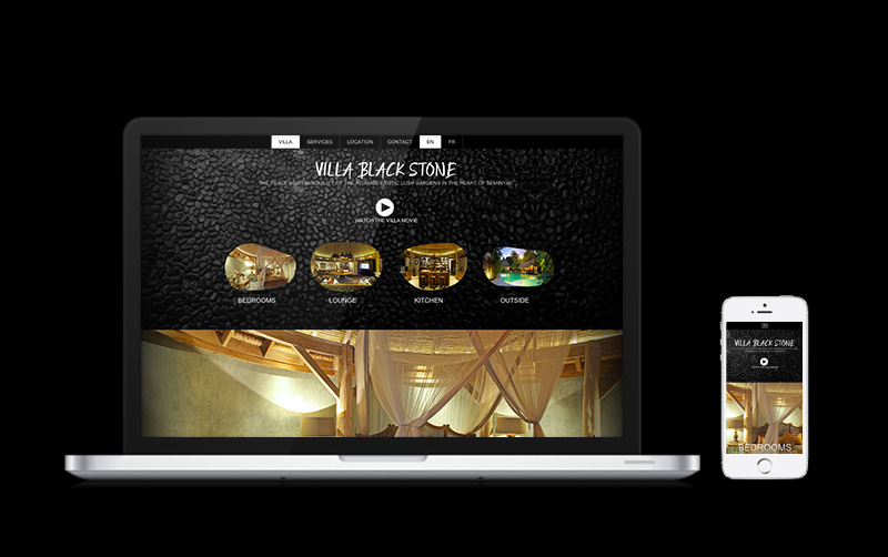 Villa Black Stone Third Page : Web Design,Graphic Design,Strategy,SEO,Social Marketing,