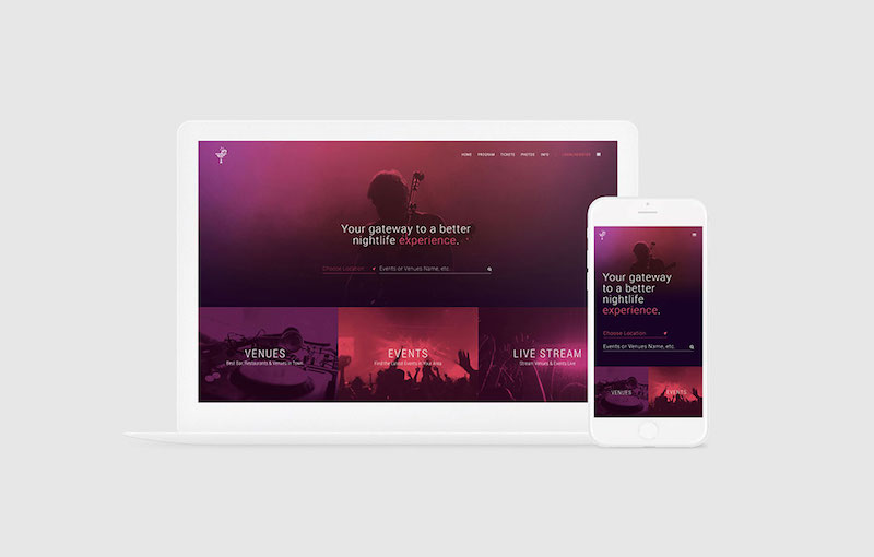 Live Venue Home Page : Web Design,Graphic Design,Strategy,SEO,Social Marketing,