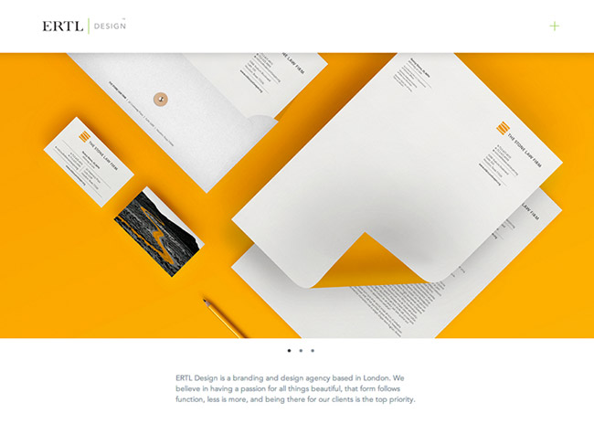 Flat web design inspiration