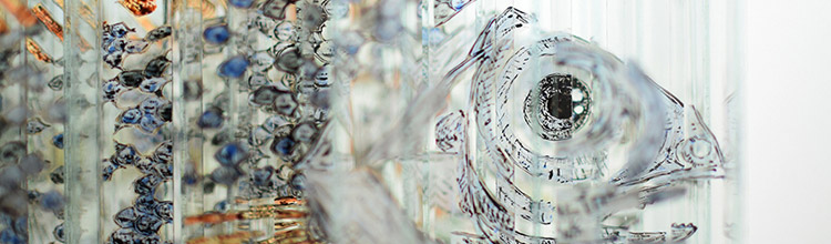 A Rotating Glass Sculpture by Thomas Medicus