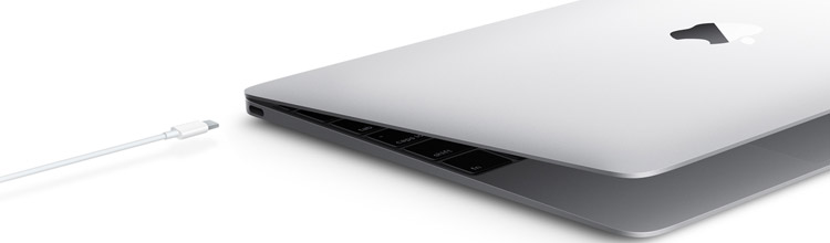 The new MacBook comes with a single external port
