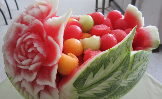 Fruits and Vegetables carving.