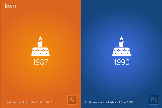The difference between Illustrator and Photoshop - born