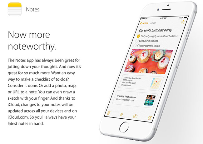 What are the new features from iOS9